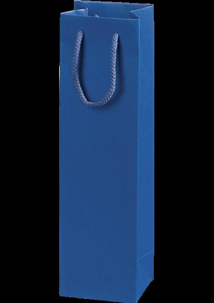 Flaschentüte mit Streifendesign blau