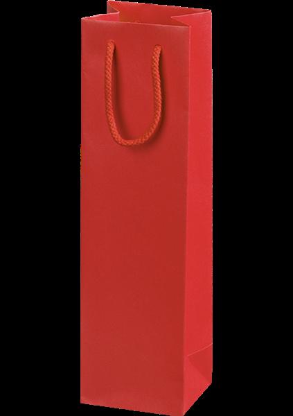 Flaschentüte mit Streifendesign rot