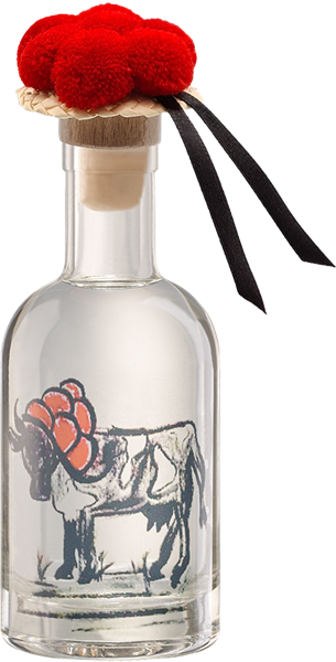 Mirabellenwasser - Design Schwarzwald-Kuh