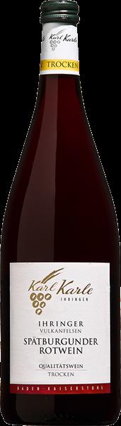 Karl Karle Ihringer Vulkanfelsen Spätburgunder Rotwein Qualitätswein trocken