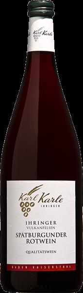 Karl Karle Ihringer Vulkanfelsen Spätburgunder Rotwein Qualitätswein halbtrocken