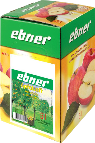 Ebner Apfelsaft Direktsaft naturtrüb Bag-in-Box