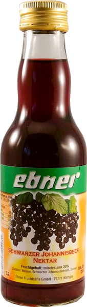 Ebner Schwarzer Johannisbeer-Nektar