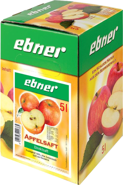 Ebner Apfelsaft Direktsaft klar Bag-in-Box