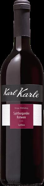 Karl Karle Ihringer Winklerberg Spätburgunder Rotwein Spätlese trocken