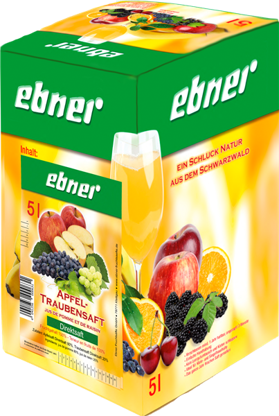Ebner Apfel-Traubensaft Direktsaft Bag-in-Box