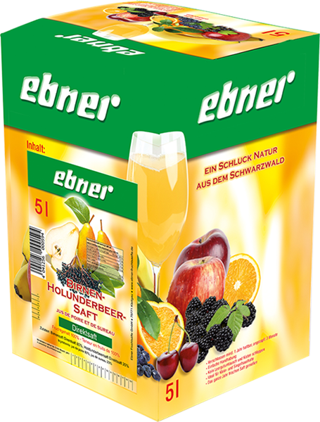 Ebner Birne-Holunderbeersaft Bag-in-Box