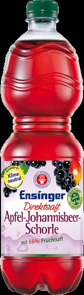 Ensinger Apfel-Johannisbeer-Direktschorle PET 1,0 Liter