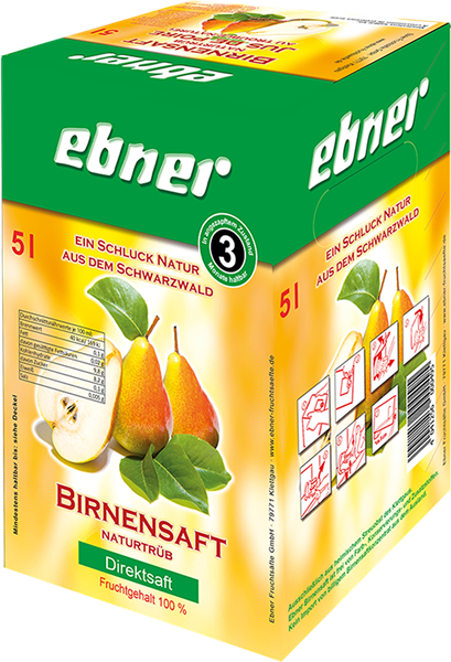 Ebner Birnensaft Direktsaft naturtrüb Bag-in-Box