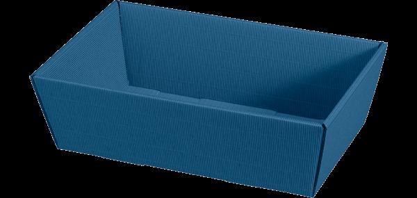 Geschenkkorb Wellpappe rechteckig uni blau -mittel-
