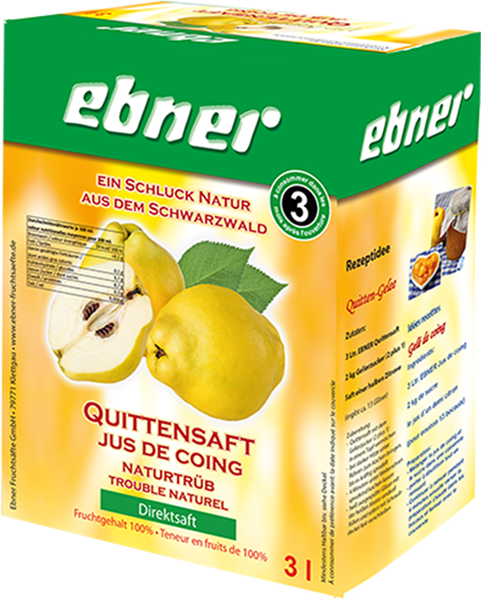 Ebner Quittensaft naturtrüb Direktsaft Bag-in-Box