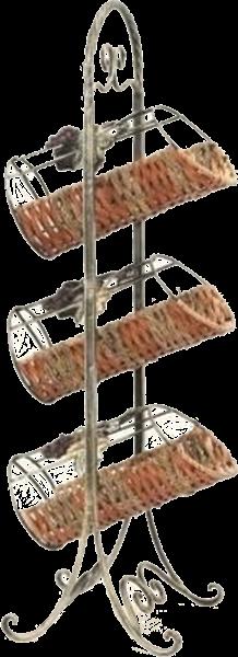 Flaschenständer Metall Korb für 3 Flaschen
