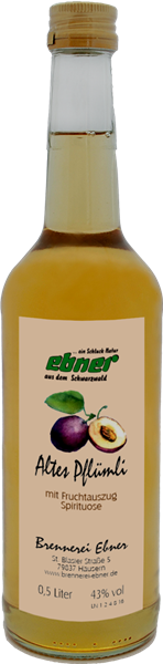 Ebner Altes Pflümli mit Fruchtauszug
