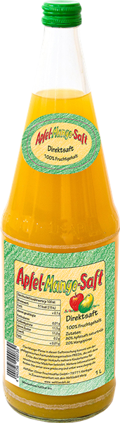 Apfel-Mango-Saft Direktsaft